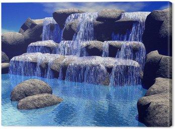 Quadro em Tela 3d waterfall