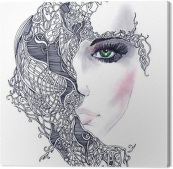 Quadro em Tela abstract woman face