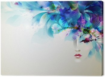 Quadro em Tela Beautiful abstract women with abstract design elements