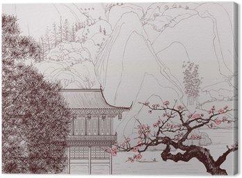 Quadro em Tela Chinese landscape