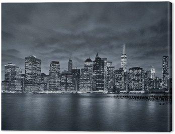 Quadro em Tela Cidade de Nova Iorque à noite