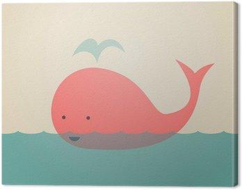 Quadro em Tela Cute Whale