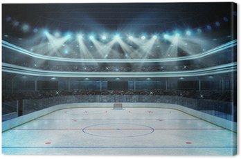 Quadro em Tela Estádio de hóquei com os espectadores e uma pista de gelo vazia