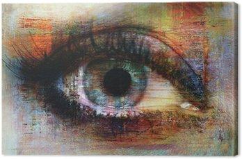 Quadro em Tela eye texture