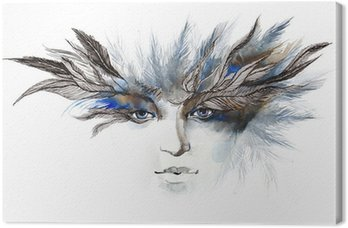 Quadro em Tela feathers around eyes (series C)