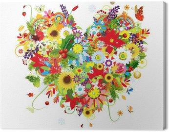 Quadro em Tela Four seasons. Art heart shape for your design