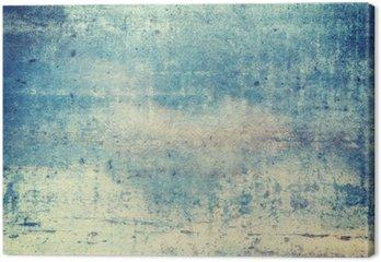 Quadro em Tela Fundo do grunge de cor azul orientado horizontalmente