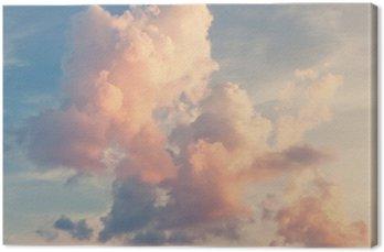 Quadro em Tela Fundo ensolarado do céu no estilo retro do vintage