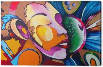 Quadro em Tela Graffiti face