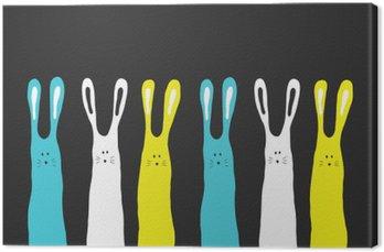 Quadro em Tela Grandes cores coelhos fundo, ilustração vetorial