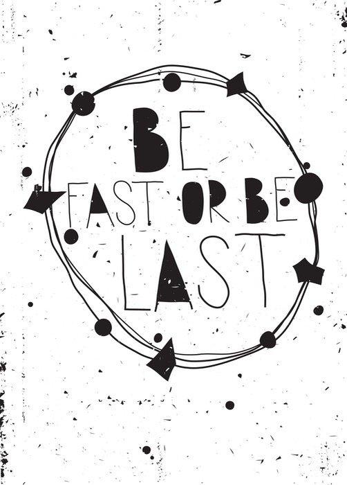 Quadro em Tela Grunge poster inspirado vintage com citações e design elemen - Negócios