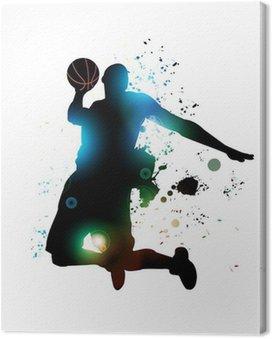 Quadro em Tela Jogador de basquete abstrato