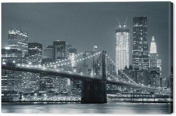 Quadro em Tela New York City Brooklyn Bridge