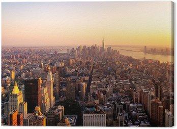 Quadro em Tela Nova York em Sunset