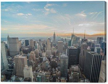 Quadro em Tela Nova York Manhattan edifícios arranha-céus
