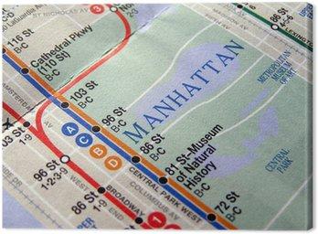Quadro em Tela Nova York mapa do metrô