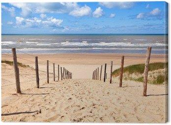 Quadro em Tela path to sandy beach by North sea
