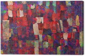 Quadro em Tela Pintura abstrata da arte