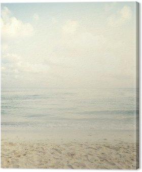 Quadro em Tela Praia tropical do vintage no verão