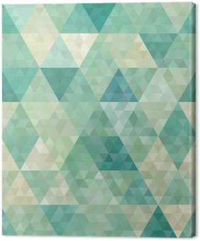 Quadro em Tela seamless background with abstract geometric ornament