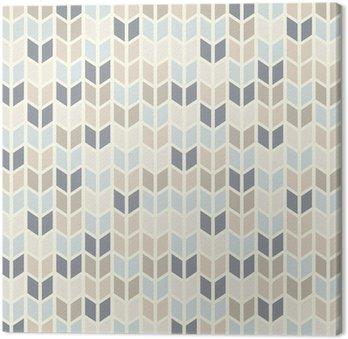 Quadro em Tela Seamless geometric pattern in pastel tints