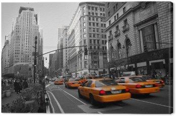 Quadro em Tela Taxies in Manhattan