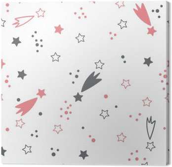 Quadro em Tela Teste padrão sem emenda bonito com estrelas. fundo do espaço