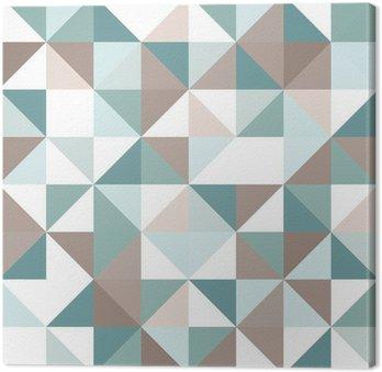Quadro em Tela Triangle seamless pattern
