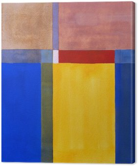 Quadro em Tela Uma pintura abstrata minimalista