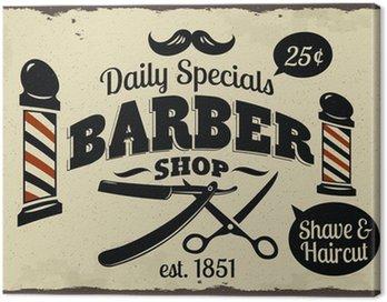 Quadro em Tela Vintage Styled Barber Shop