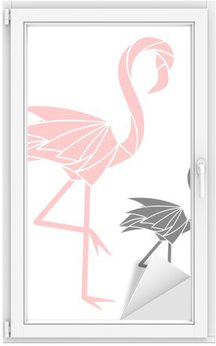 Raamsticker Flamingo