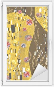 Raamsticker Klimt geà ¯ nspireerd abstracte kunst
