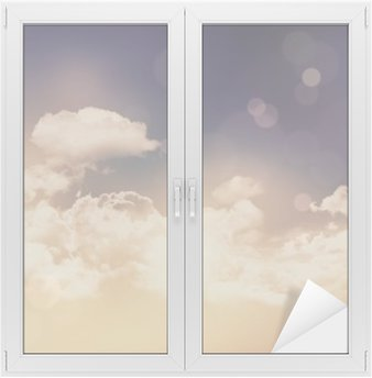 Raamsticker Retro wolken en hemel achtergrond