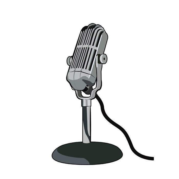 Znalezione obrazy dla zapytania mikrofon radiowy rysunek