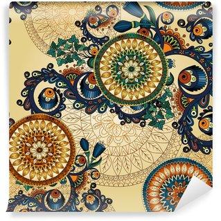 Samolepicí Fototapeta Bezešvé abstraktní květinový vzor s čmáranice a okurky