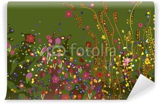 Samolepicí Fototapeta Gustav Klimt, květiny