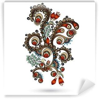 Samolepicí Fototapeta Henna Mehndi Paisley Doodles konstrukční prvek.
