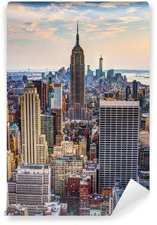 Samolepicí Fototapeta New York za soumraku