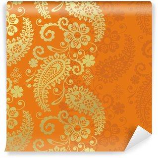Samolepicí Fototapeta Paisley květinovým vzorem, textil, Rajasthan, Indie královský
