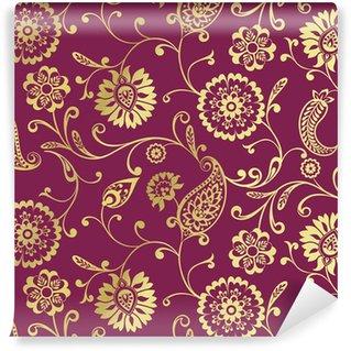 Samolepicí Fototapeta Tradiční paisley květinovým vzorem, textil, Rajasthan, Indie
