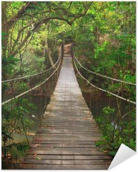Samolepicí Plakát Bridge do džungle, Národní park Khao Yai, Thajsko