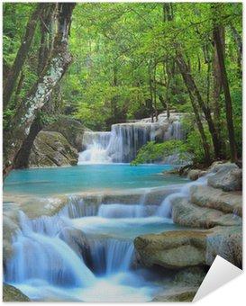Samolepicí Plakát Erawan Waterfall, Kanchanaburi, Thajsko