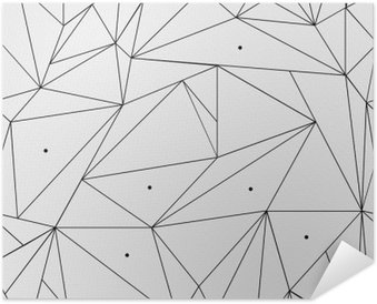 Samolepicí Plakát Geometrické jednoduchá černá a bílá minimalistický vzor, trojúhelníku nebo okenní vitráž. Může být použit jako tapety, pozadí nebo textury.