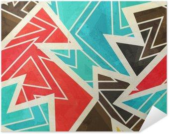 Samolepicí Plakát Mládež geometrický bezešvé vzor s grunge efekt