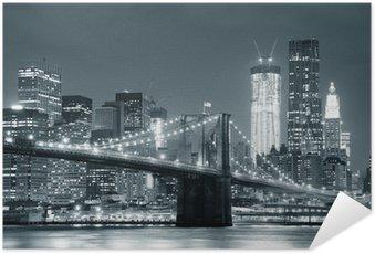 Samolepicí Plakát New York City Brooklyn Bridge