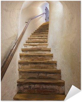 Samolepicí Plakát Schody v hradě Kufstein - Rakousko