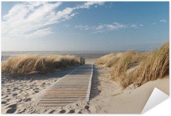 Samolepicí Plakát Severní moře pláž v Langeoog