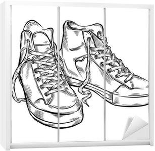 Kleiderschrank gezeichnet  Fototapete Hand gezeichnet sneakers • Pixers® - Wir leben, um zu ...