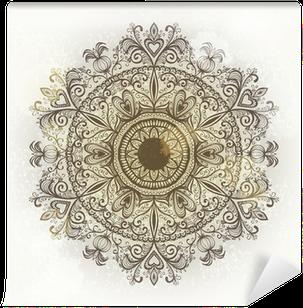 Selbstklebende Fototapete Grunge Hand gezeichnet kreisförmigen floralen Ornament. Eps10