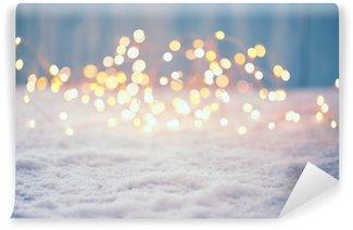 Selbstklebende Fototapete Weihnachten Bokeh Hintergrund
